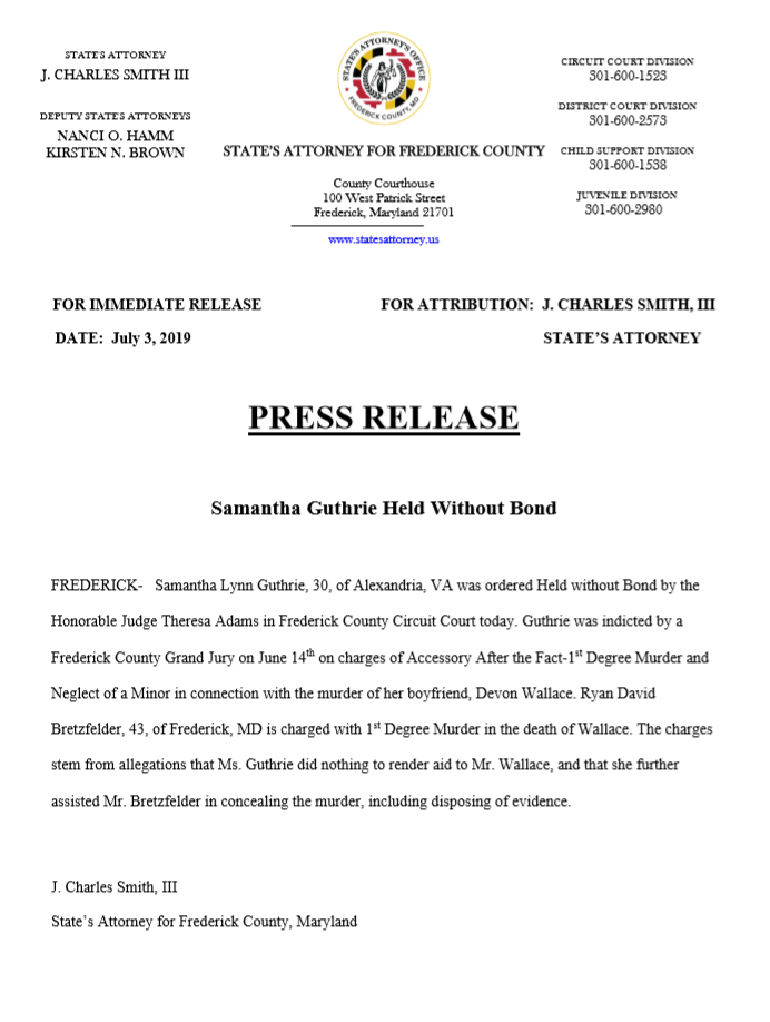 Press Releases - Frederick County States Attorneys Office